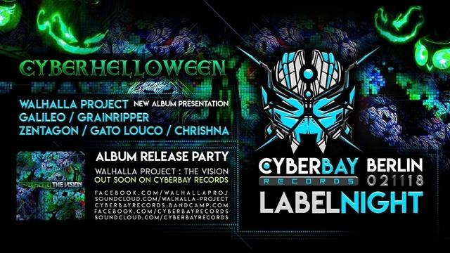Party Flyer CyberBay Night - Berlin - Walhalla New Album Party release 2 Nov '18, 23:30
