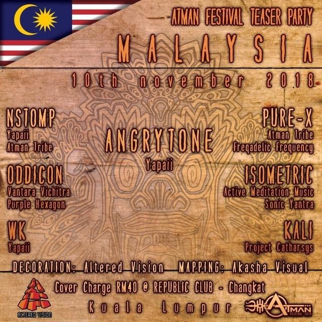 Party Flyer Atman Festival Teaser Kuala Lumpur 10 Nov '18, 22:00