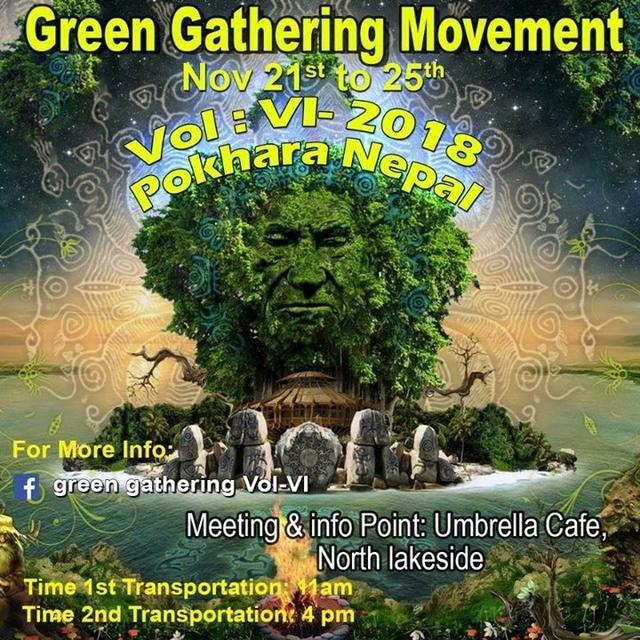 Party Flyer Green Gathering Movement Vol: VI -018 21 Nov '18, 12:30
