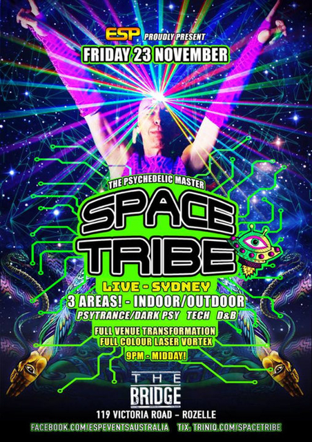 Party Flyer Space Tribe Live 23 Nov '18, 21:30