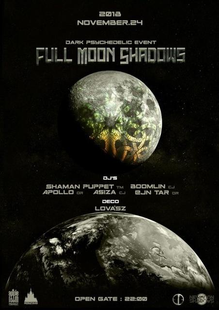 Party Flyer FullMoonShadows 24 Nov '18, 22:00