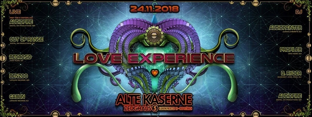 Party Flyer **LOVE EXPERIENCE** Alte Kaserne Zürich 24 Nov '18, 22:30