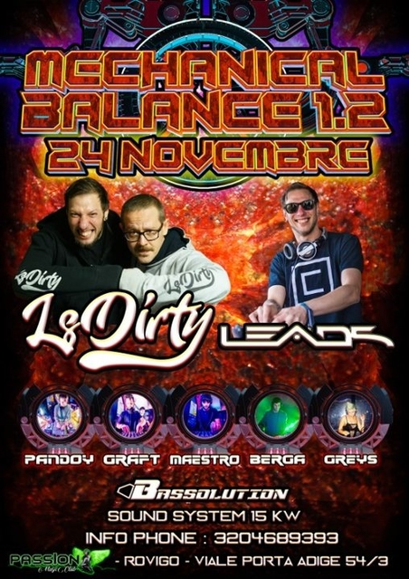 Party Flyer Mechanical Balance 1.2 24 Nov '18, 23:00