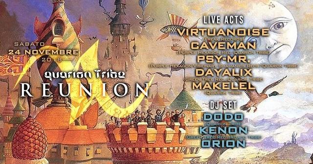 Party Flyer QUARION TRIBE REUNION-VIRTUANOISE LIVE! 24 Nov '18, 22:00