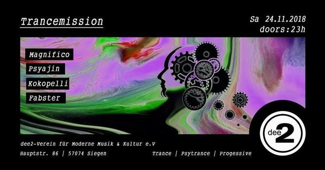 Party Flyer Trancemission 24 Nov '18, 23:00