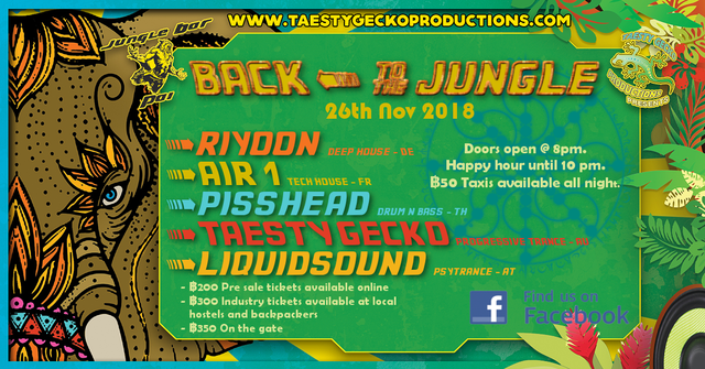 Party Flyer Back To The Jungle 26 Nov '18, 19:00