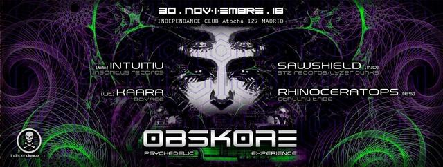 Party Flyer Obskore 30 Nov '18, 23:30