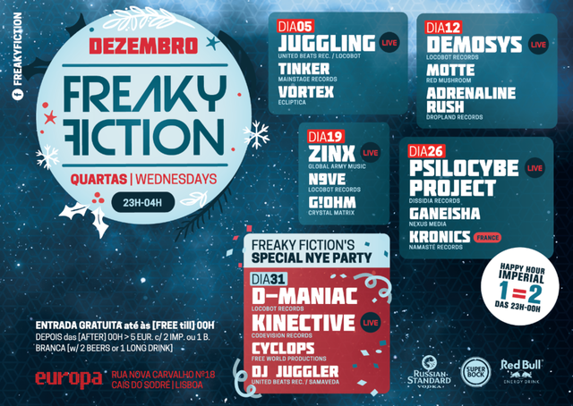 Party Flyer FREAKY FICTION 5 Dec '18, 23:00