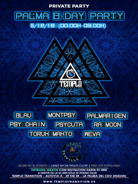 Party Flyer PALMA B-DAY PARTY 5 Dec '18, 23:30