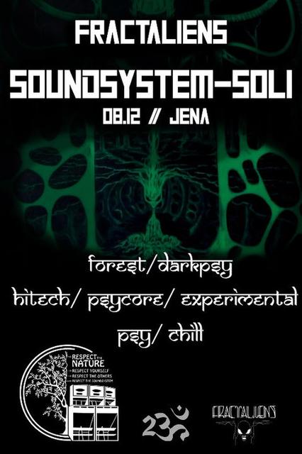 Party Flyer FractAliens Soundsystem Soli 8 Dec '18, 20:00