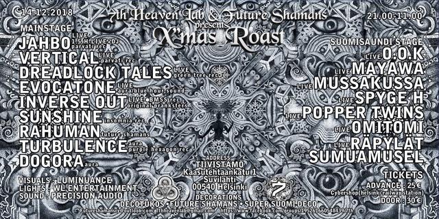 Party Flyer X'MAS ROAST 14 Dec '18, 21:00
