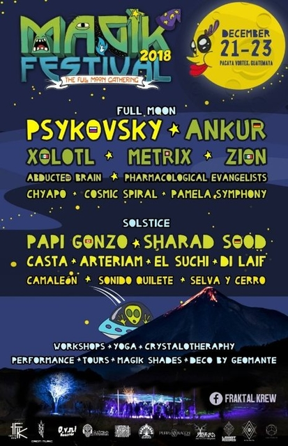 Party Flyer MAGIK FESTIVAL-Full Moon Festival 21 Dec '18, 14:00