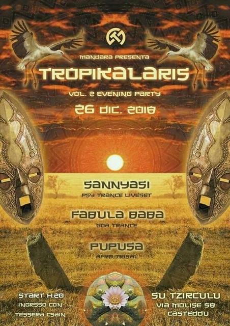 Party Flyer Tropikalaris Vol. 2 - Tribadelic Evening Party 26 Dec '18, 20:00