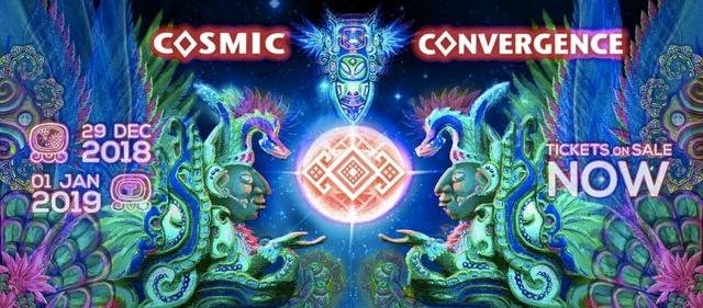 Party Flyer Cosmic Convergence Festival 2018 - Ancestral Awakening 29 Dec '18, 10:00