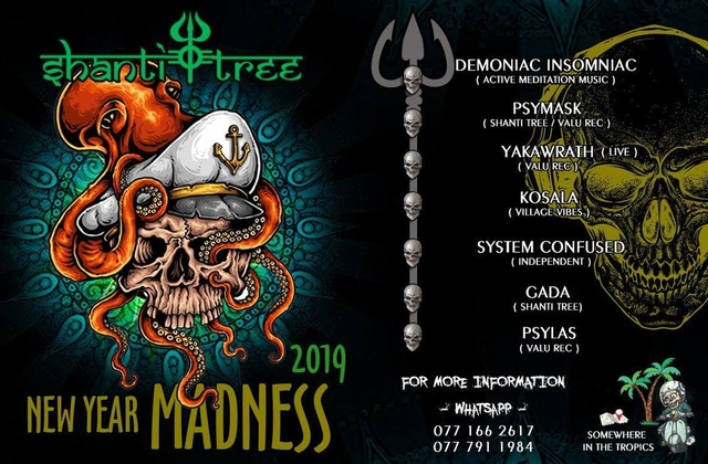 Party Flyer Shanti Tree New Year Madness 2019 31 Dec '18, 17:00