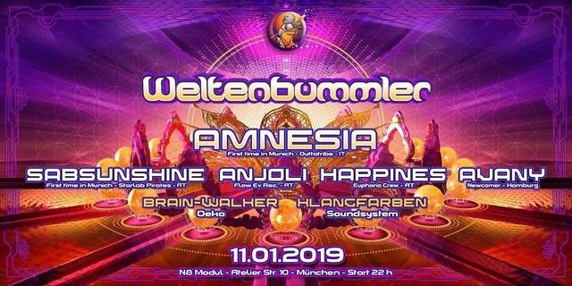 Party Flyer Weltenbummler pres. Women on the decks 11 Jan '19, 22:00