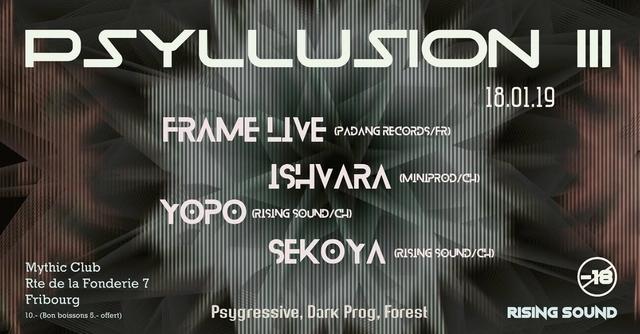 Party Flyer PSYLLUSION III w/ Frame 18 Jan '19, 22:00