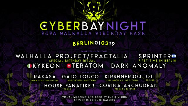 Party Flyer CyberBay Night Berlin - Walhalla Birthday Bash 1 Feb '19, 23:00
