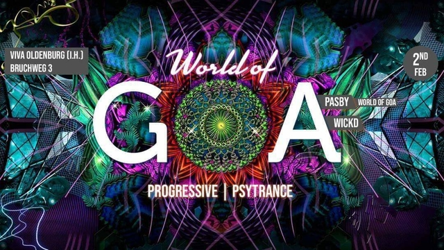 Party Flyer World of GOA 2 Feb '19, 22:00