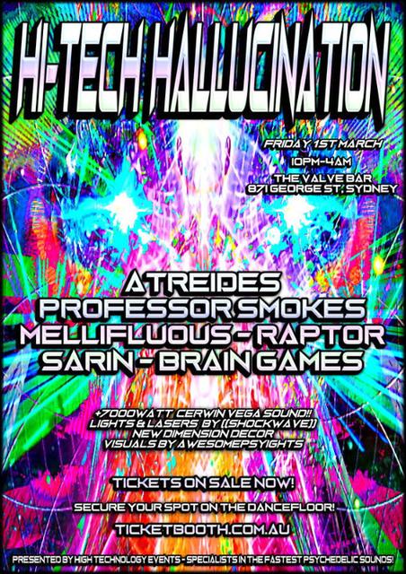 Party Flyer Hi Tech Hallucination 1 Mar '19, 22:00