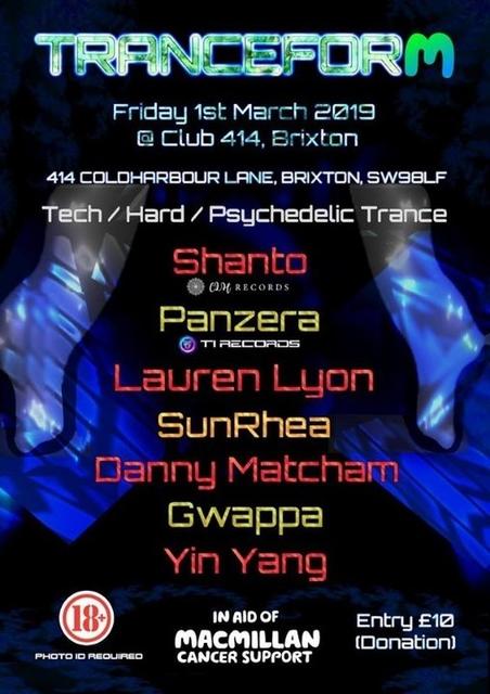 Party Flyer Tranceform 01/03/2019 1 Mar '19, 23:00