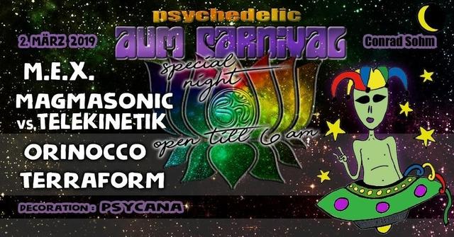 Party Flyer ✮ ✮ AUM Carnival - bis 6 Uhr ✮ ✮ 2 Mar '19, 22:00
