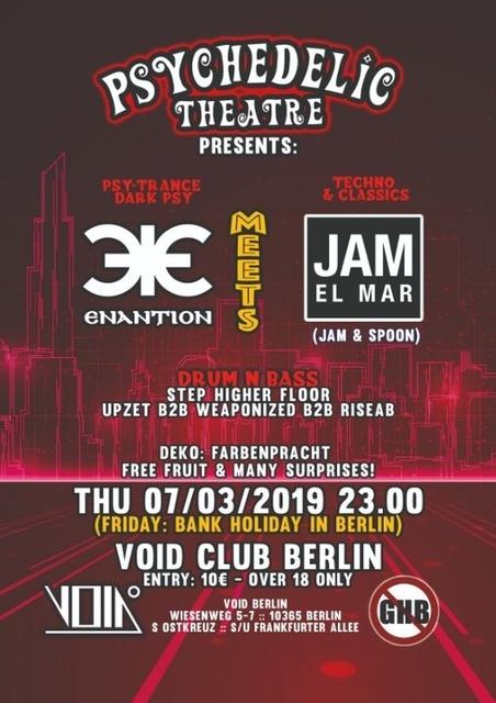 Enantion meets Jam El Mar (Jam & Spoon) 7 Mar '19, 23:00