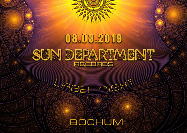Party Flyer Sun Department Records Label Night 8 Mar '19, 23:00