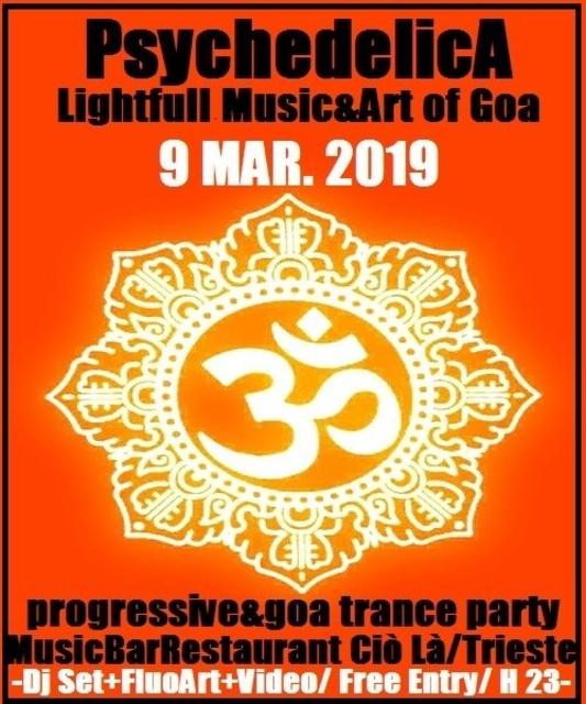 Party Flyer ***PsychedelicA*** 9 Mar '19, 22:30