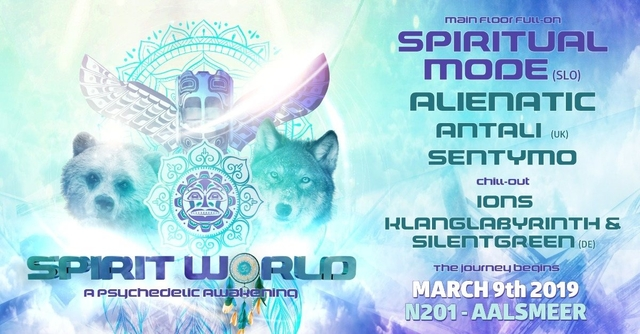 Party Flyer Spirit World // A Psychedelic Awakening 9 Mar '19, 23:00