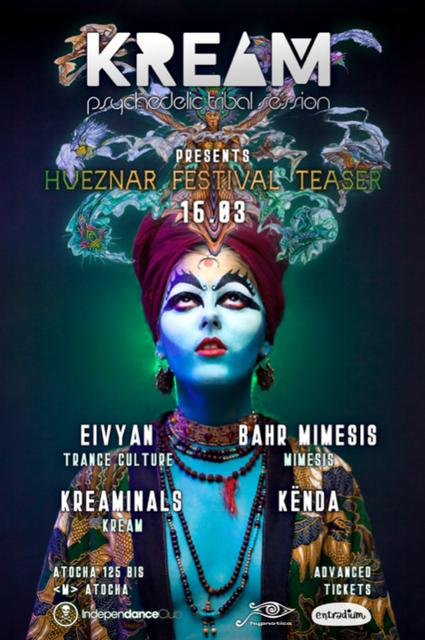 Party Flyer Hueznar Festival Teaser at KREAM 16 Mar '19, 23:30