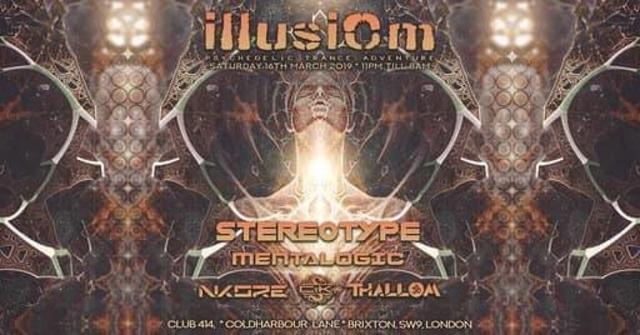 Party Flyer Illusiom PsyTrance Adventure 16 Mar '19, 23:00