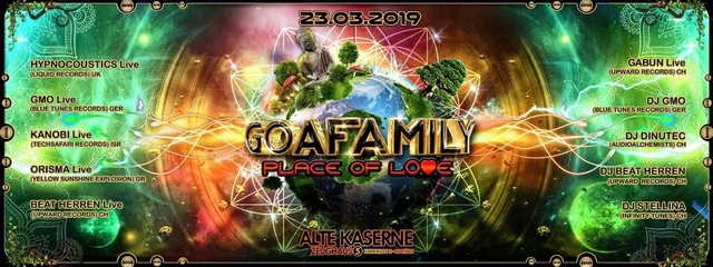 Party Flyer **GOAFAMILY - Place of Love** 23 Mar '19, 22:30