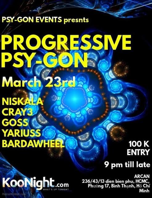 Party Flyer Progressive Psy-Gon 23 Mar '19, 22:00