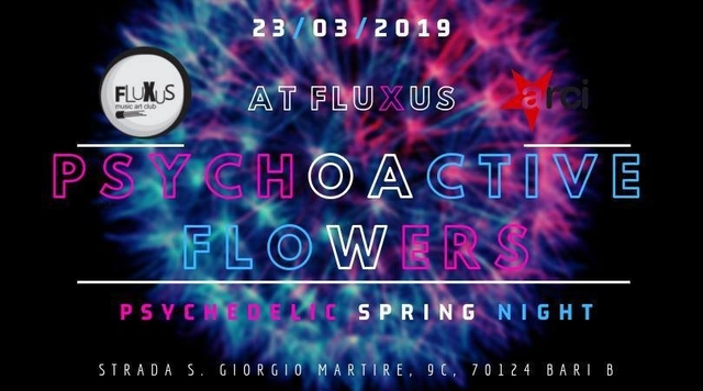Party Flyer PSYchoactive FLOwers PSY-Trance Party 23 Mar '19, 22:00