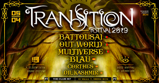 Transition Festival teaser Party in Barcelona 5 Apr '19, 23:30