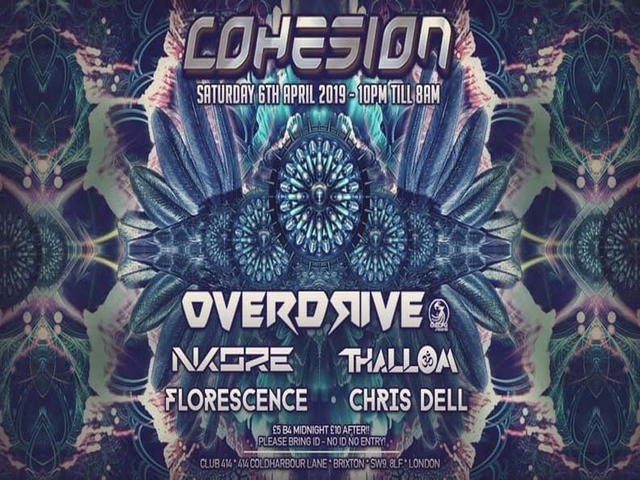 Party Flyer Cohesion PsyTrance Adventure 6 Apr '19, 23:00