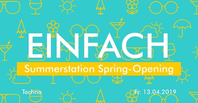 Party Flyer Einfach Open Air - Techno by ANANAS 13 Apr '19, 14:00