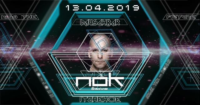 """Party Flyer KISS THE FUTURE """"N O K"""" 13 Apr '19, 22:00"""