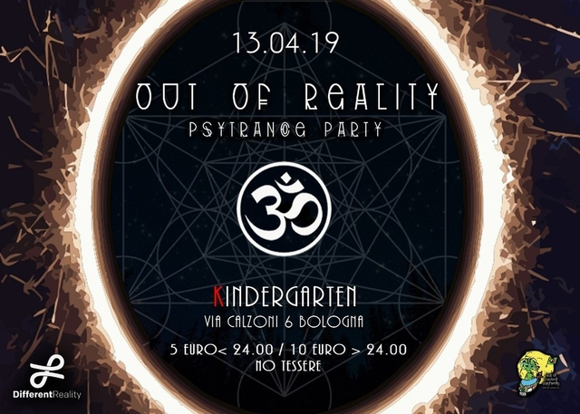 Party Flyer Out of Reality 13 Apr '19, 23:00