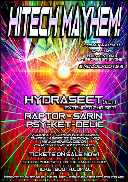 Party Flyer Hitech Mayhem! 3 May '19, 22:00