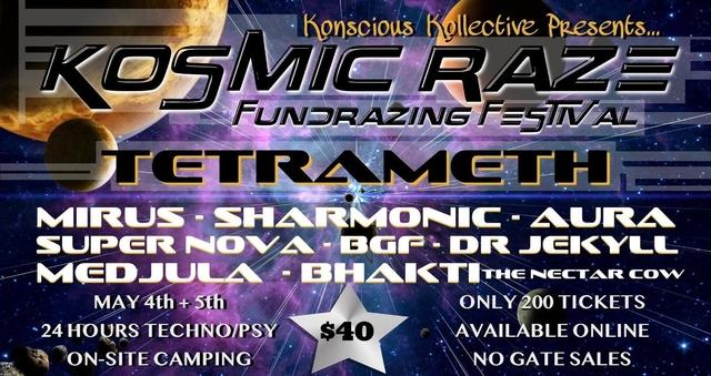 Party Flyer Kosmic Raze 4 May '19, 12:00