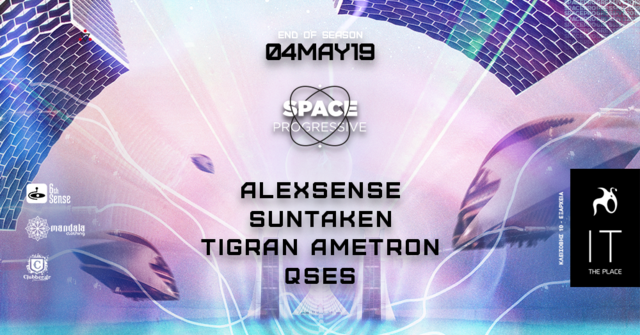 Party Flyer • Space Progressive // Athens • 4 May '19, 23:30