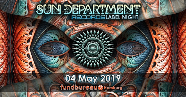 Party Flyer Sun Department Records Label Night 4 May '19, 23:00