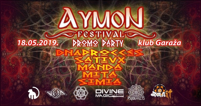 Party Flyer Aymon Festival promo party 18 May '19, 22:00