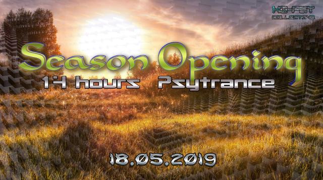 Party Flyer Season Opening @ Summerstation - Psytrance 18 May '19, 14:00