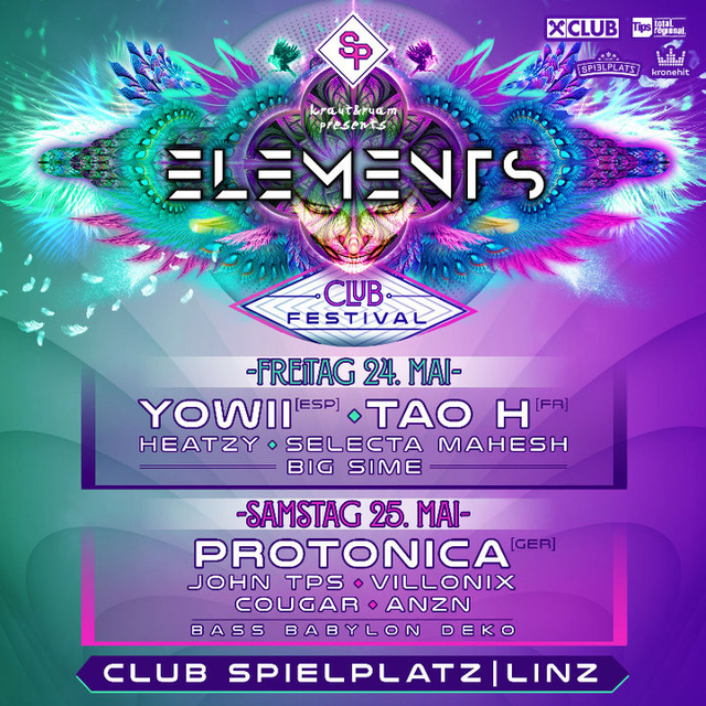 Party Flyer ELEMENTS CLUB FESTIVAL 24 May '19, 22:00