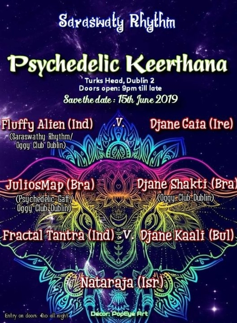 Party Flyer Psychedelic Keerthana 15 Jun '19, 21:00