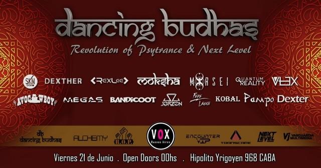 Party Flyer Dancing Budhas + ROP + Next Level 21 Jun '19, 23:30