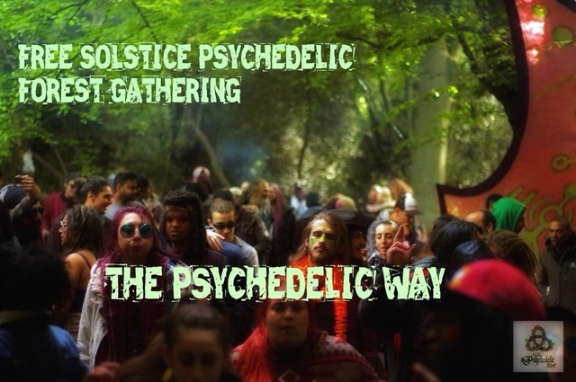 Party Flyer The Psychedelic Way Free Party 22 Jun '19, 22:00